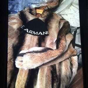 A/X faux fur & hat